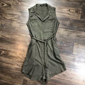 Velvet Heart Army Green Utility Dress Sz: Med